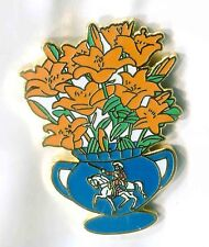orange lillies vase Enamel badge orage order ulster scots loyalist king billy