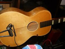 Laredo 6 string acoustic guitar, blonde, made USA, 60-70's, avg cond, blemishes
