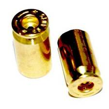 2 Real 45 Cal. ACP - Brass Bullet Shell - Tire Air Valve Stem Caps - Motorcycle