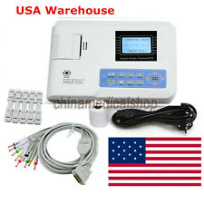 US Seller Digital single channel 12-lead ECG/EKG machine Electrocardiograph FDA