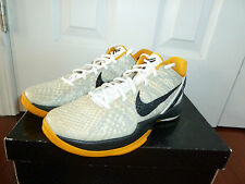 Nike Zoom Kobe 6 VI White Del Sol Gold Black 429659-103 Sz 9.5 Playoffs