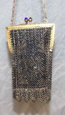 Vintage 1920s ART DECO Mesh Purse Handbag Mandalian Mfg Co Blue Stone Closure