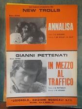 """SPARTITO NEW TROLLS """"ANNALISA"""" PETTENATI """"IN MEZZO AL TRAFFICO"""""""