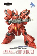 Red 1/100 30mm 4x LED Gatling Gun single set for Gundam Robot model sci-fi