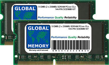512MB (2 x 256MB) PC100 100MHz/PC133 133MHz 144-PIN SDRAM SODIMM LAPTOP RAM KIT