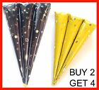 16CM LONG NATURAL HENNA CONES BUY 2 QUANTITY GET 4 IN TOTAL 1stClassPost