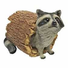 Raccoon Garden Statue Outdoor Decorations Sculpture Figure Yard Patio Lawn Decor