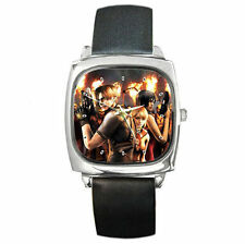 Bio hazard 4 hungry zombies leather wrist watch