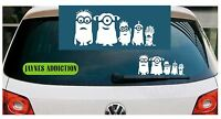 MINION FAMILY - Vinyl Car Van Wall Decal Sticker Adhesive  Logo