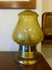 Lampada abatjour da tavolo anni 60 ottone vetro vintage retrò lamp