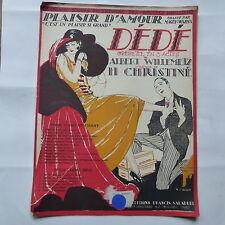 Partition Dédé Willemetz Christiné Ed Salabert Plaisir d amour MAGUY WARNA