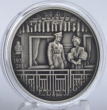 Canada 2014 $20 First Royal Visit 75th Anniversary Pure Silver Antique Finish