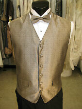 Mens Vintage Formal Vest Bronze With Matching Ties Size Large