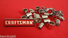 "CRAFTSMAN Socket Set 3/8"" drive SAE and Metric 12pt  25pcs  NEW"