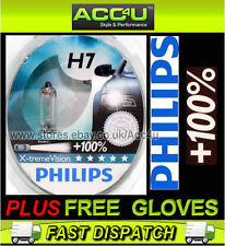 Philips X-treme Vision 100% H7 12v 55w Car Upgrade Headlight Headlamp Bulbs Pair