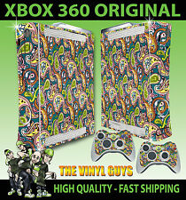 XBOX 360 ORIGINAL PRETTY GREEN LIAM GALLAGHER OASIS STICKER SKIN & 2 X PAD SKINS