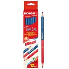 Kores 2-Farb-Stift Lehrer Buntstift Twin, Blau und Rot, 12 Stück Korrektur Stift