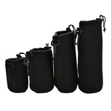 4X Neoprene Soft Protector Lens Pouch Case Bag S M L XL Set for DSLR Camera HGUK