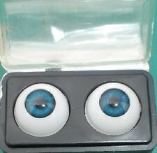 "pair of acrylic eyes blue 0.55""/14 mm / realistic eyes/ BJD/ Glastic"
