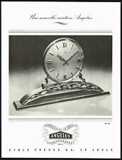 1940's Vintage 1945 Stolz Freres / Angelus Clock & Watch Co Mid Century Print AD
