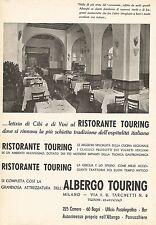 W9454 Albergo Touring - Milano - Pubblicità del 1937 - Old advertising