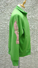 Y-3 Yohji Yamamoto Green Embroidered Zip-Up Jacket (Size M)
