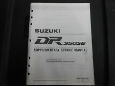 OEM Suzuki 1995 DR350SE DR 350 SE Service Manual Supplement 99501-43040-03E