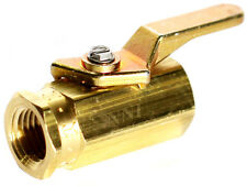"1/4"" Female NPT Mini Brass Ball Valve 500 Psi for Fuel oil Gas Water Marine USA"