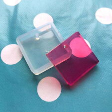 SILICONE FLAT SQUARE MOLD- 25mm Resin Jewellery Making Pendant Jewelry Shape