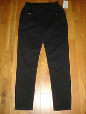 NWT Oh ! Momma MATERNITY PANEL BLACK Jeans Womens Large L