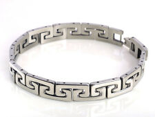 silver Mens cool stainless steel chain Braclet link Bangle wristband Fashion H