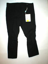 New NWT Designer Womens Miu Miu Italy Pants Black 46 12 Knee Seams Unique Crop
