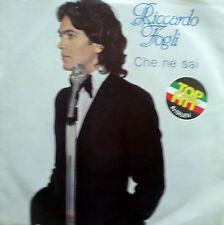 """7"""" 1979 CBS BLITZ PROMO MINT- RICCARDO FOGLI Che Ne Sai"""