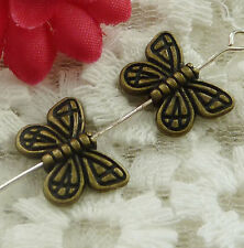 free ship 240 pieces bronze plated butterfly spacer 15x11mm #2344