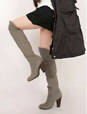 Winter Woman's Sexy Over The Knee Thigh High Long Boots Block Heels Party Shoes