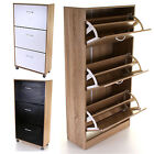 SHOE STORAGE WOODEN CABINET 3 DRAWER FOOTWEAR STAND RACK UNIT CUPBOARD 3 COLOURS