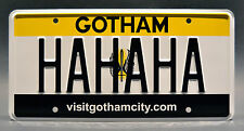 Suicide Squad / Joker / Harley Quinn / Gotham City *STAMPED* Prop License Plate