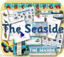 SEASIDE & SUMMER HOLIDAYS TOPIC KS1 EYFS teaching display, IWB etc resources CD