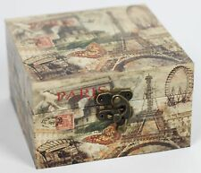Vintage Paris Print Decorative Storage Box