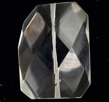 40x30mm Clear Glass Quartz Faceted FreeForm Pendant Bead