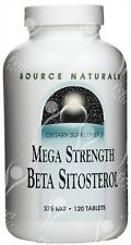 Source Naturals, Mega fuerza beta-sitosterol, 375mg x120tabs-los esteroles vegetales