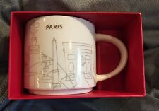 Starbucks Paris Mug YAH France Christmas Gold Cup Holiday You Are Here