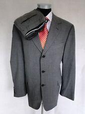 Gardeur Anzug Citywear Einreiher Grau Unifarben Schurwolle Gr. 54