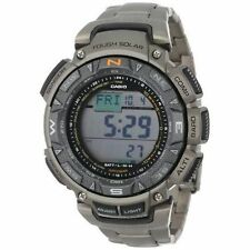 Casio Men's PAG240T-7CR Pathfinder Triple-Sensor Stainless Steel Watch w...