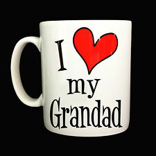 NEW I LOVE HEART MY GRANDAD GIFT MUG CUP PRESENT FAMILY CHRISTMAS BIRTHDAY