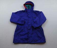 Kids REI Elements Purple Windbreaker Hooded Rain Jacket Coat Sz Youth L Womens M