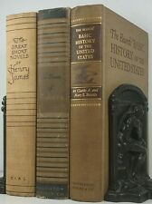 1933~Antique Vintage BROWN 3 Book Lot~Old Decorative Set~CHAUCER~HENRY JAMES