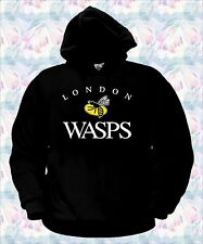 FELPA LONDON WASPS RUGBY maglia all blacks italia t-shirt polo maglietta vespe