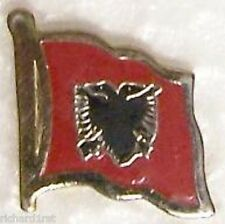 Hat Lapel Pin Tie Tac Push Flag of Albania NEW