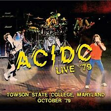 AC/DC - LIVE 79-TOWSON STATE COLLEGE,MARYLAND OCTOBER 7  CD NEW+